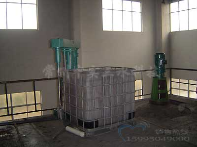 吨桶搅拌机现场