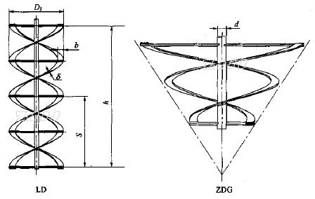 螺带式搅拌器(机)的结构图和主要技术参数